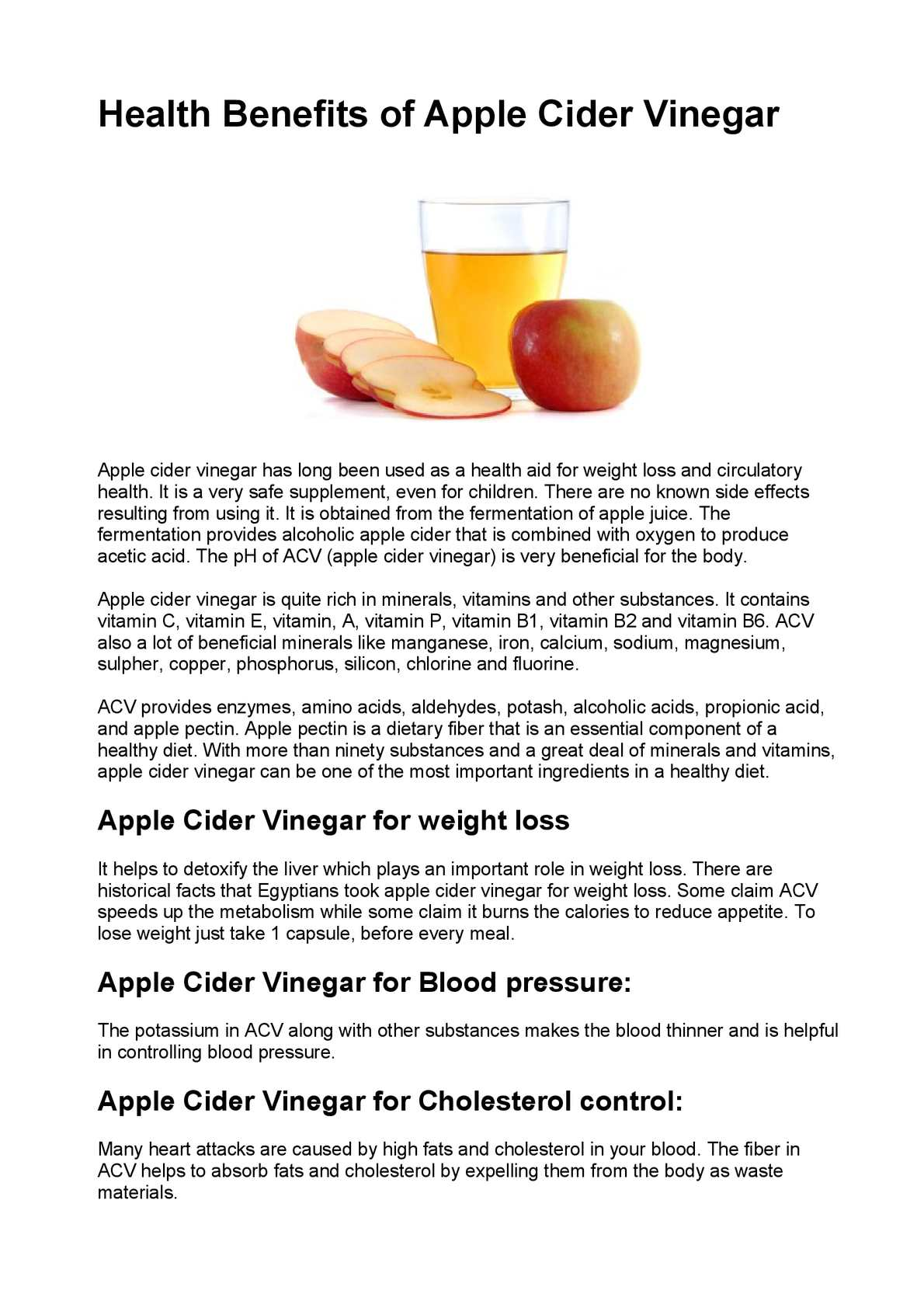 calaméo - health benefits of apple cider vinegar