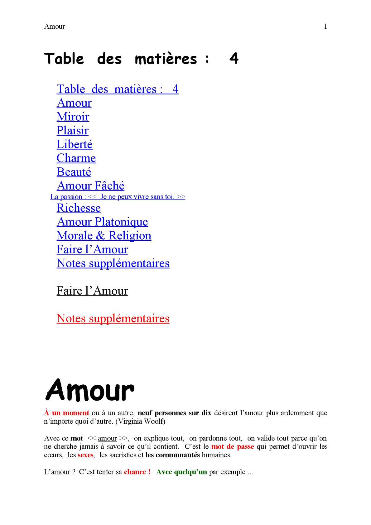Calaméo Amour Citations