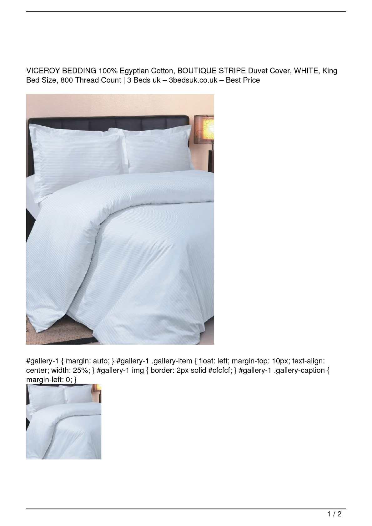 BRANDED BEDDING~ITEM 100/% Egyptian Cotton 800 TC USA Sizes White Stripe