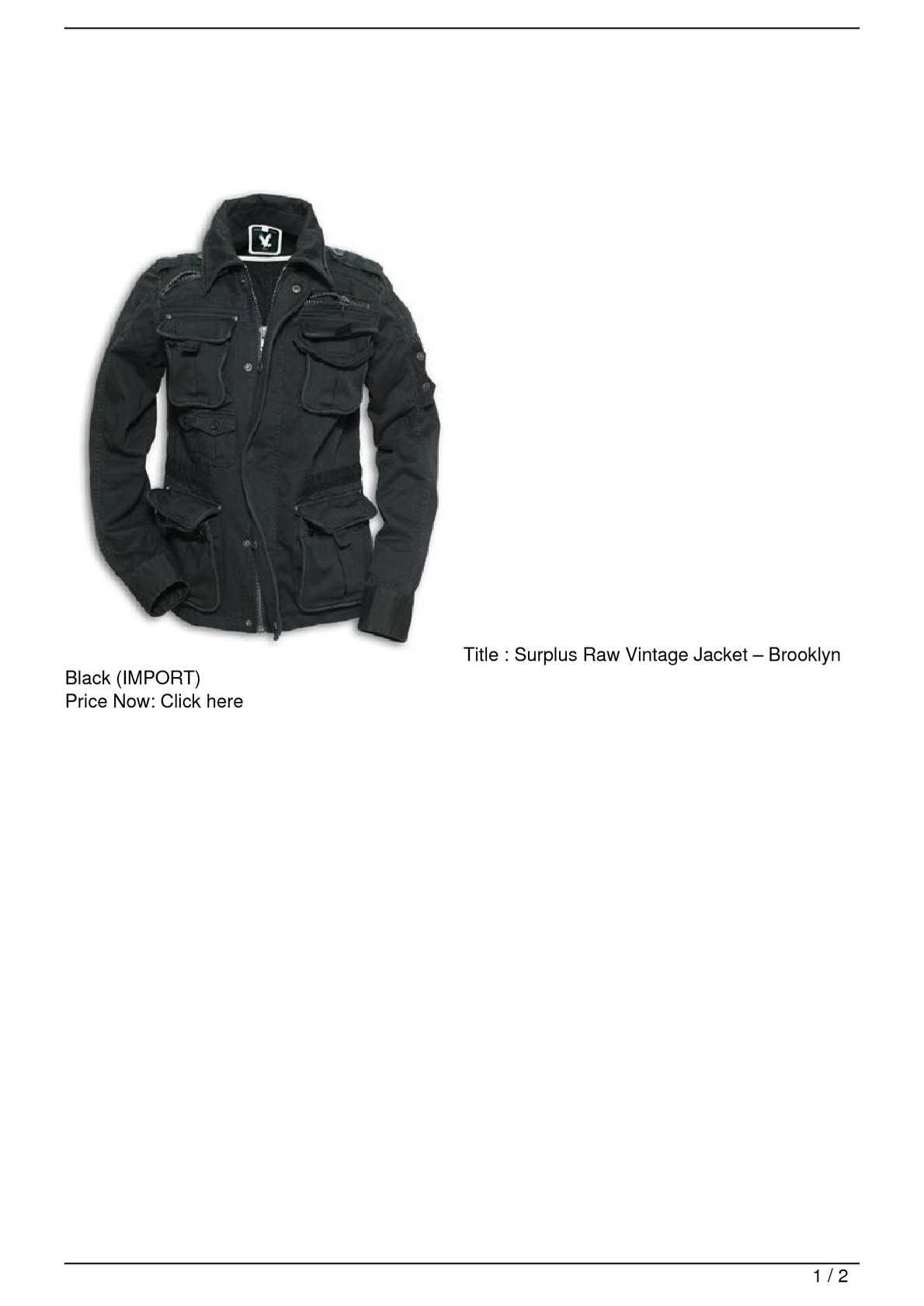 Calaméo - Surplus Raw Vintage Jacket –