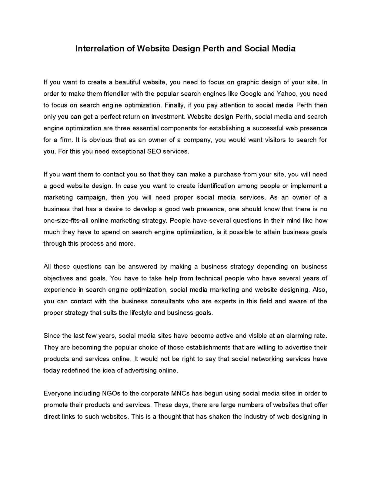Calaméo - Interrelation of Website Design Perth and Social Media