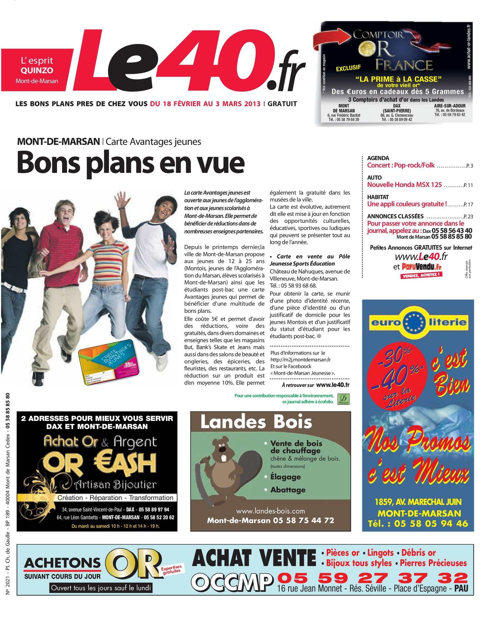 Calaméo Journal Le 40 édition Mont De Marsan
