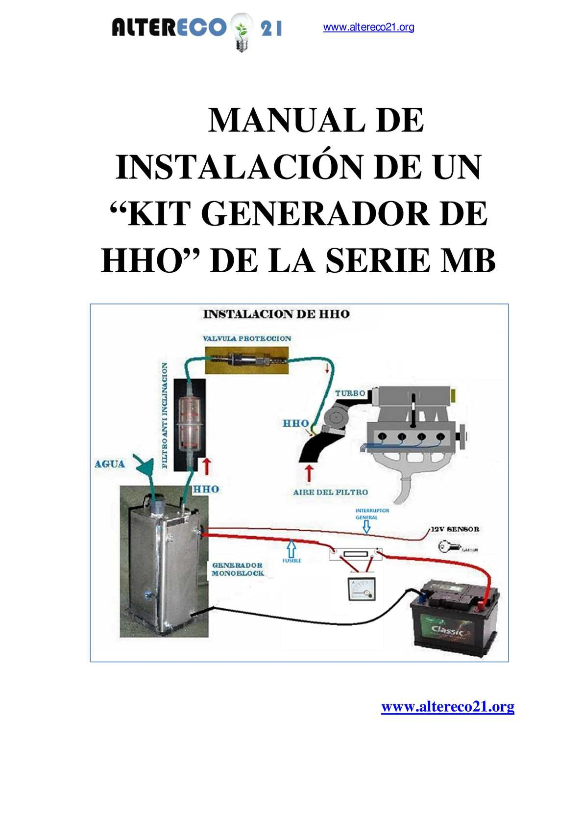 Calaméo - Instalación de Kit HHo de la serie MB de ALTERECO21
