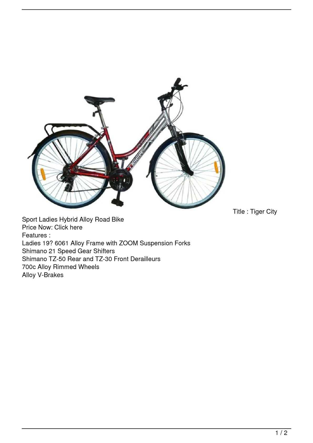 700c Tiger Hybrid Bicycle Forks