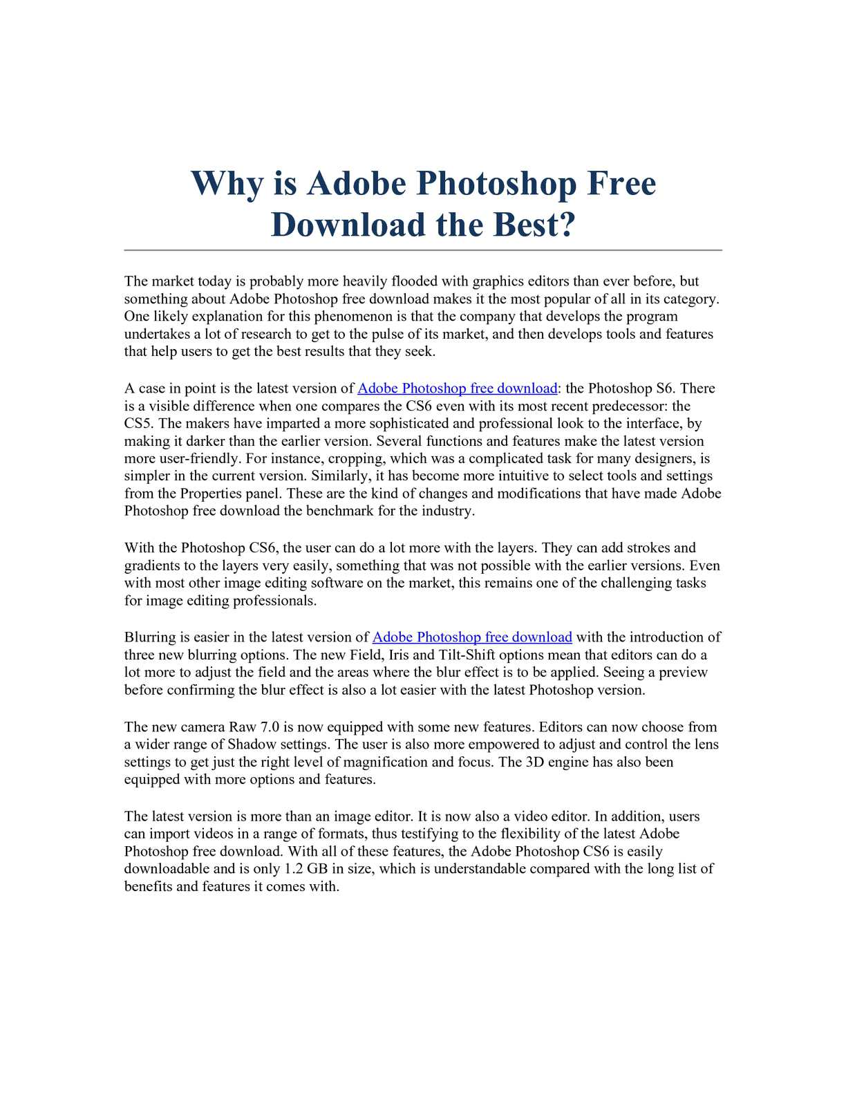 Calaméo - Why is Adobe Photoshop Free Download the Best?