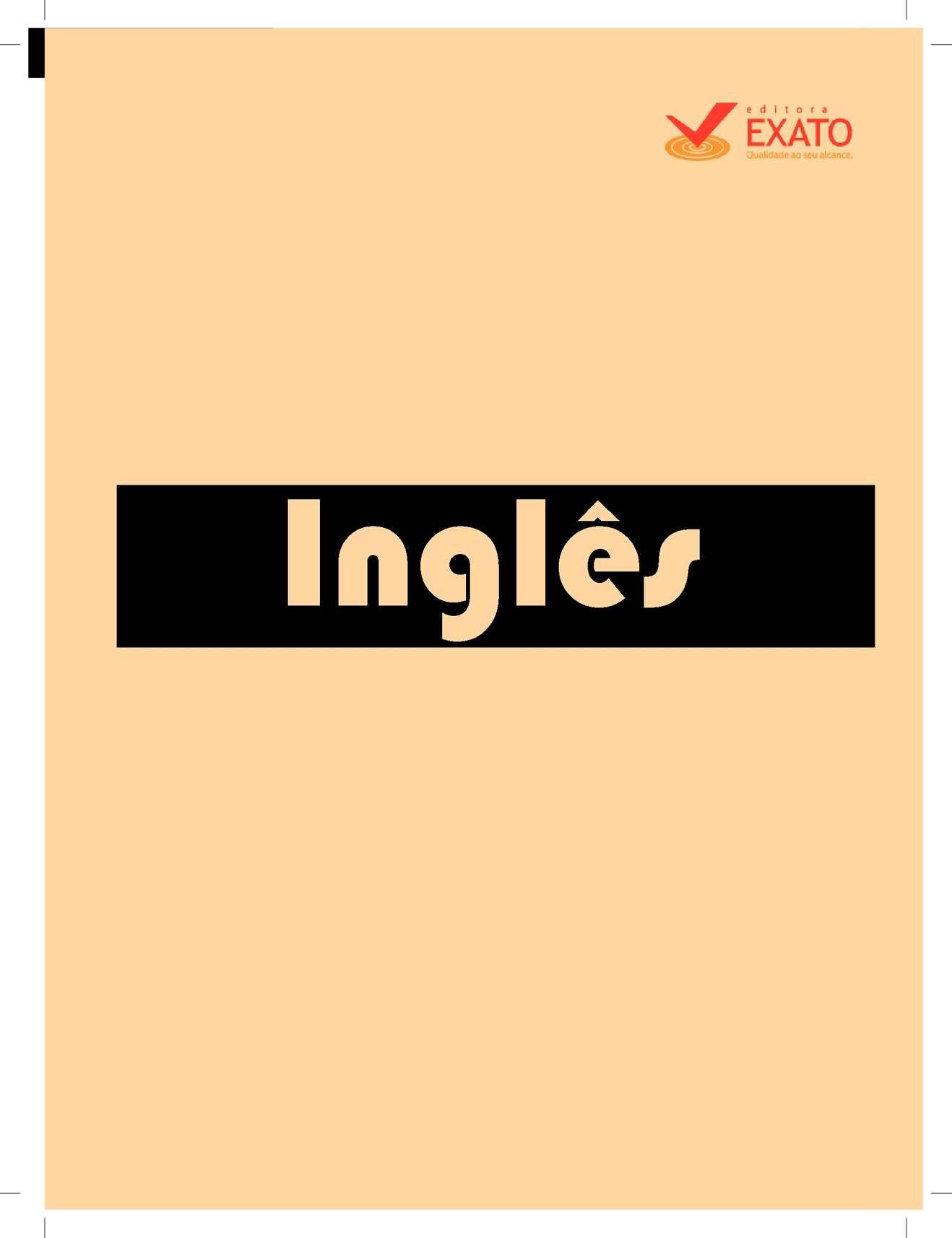 0de3dbd8a36 Calaméo - Apostila de línguas 2010 Inglês