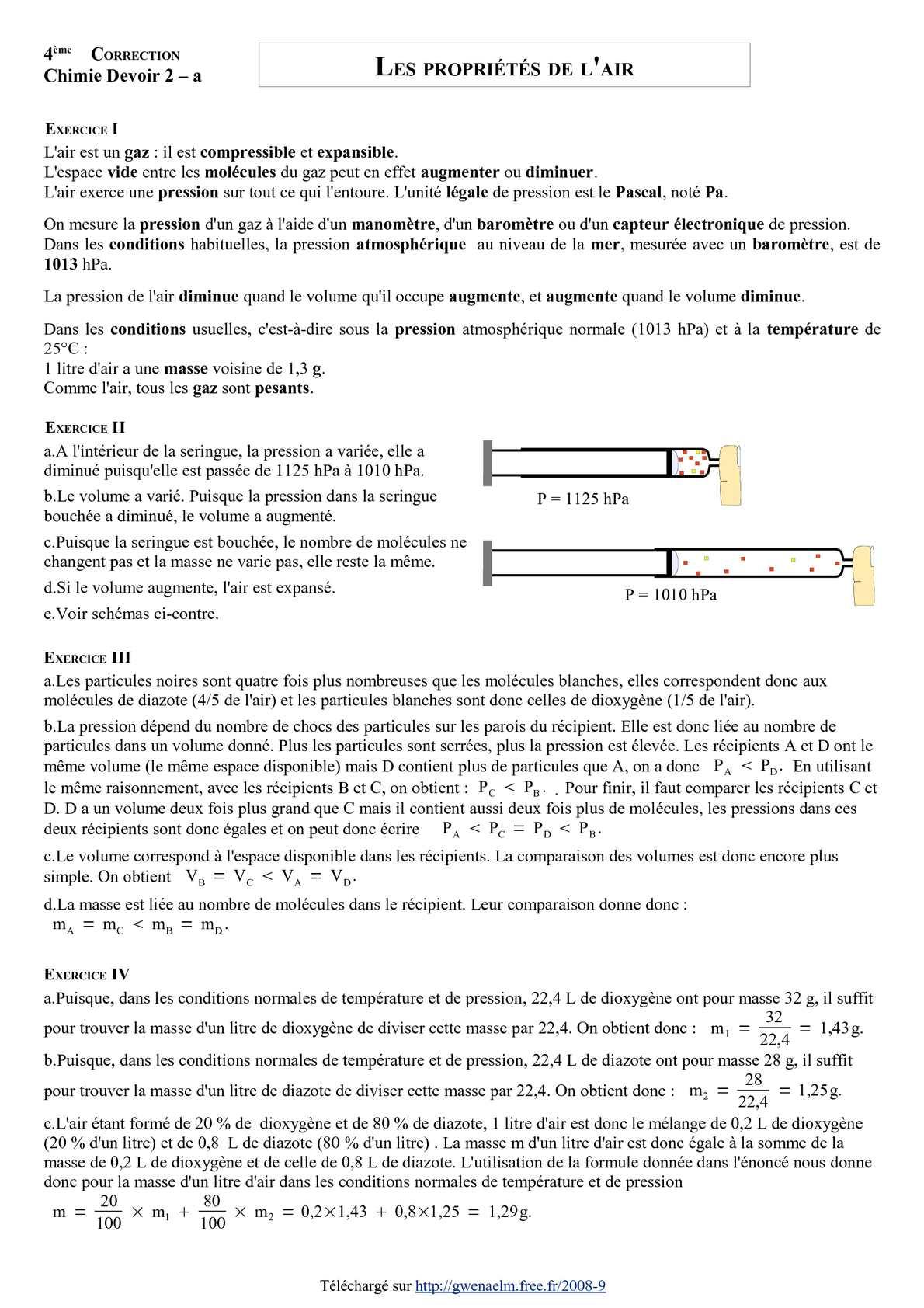 Calameo Ds 2 Quatrieme Les Proprietes De L Air Corrige Version A