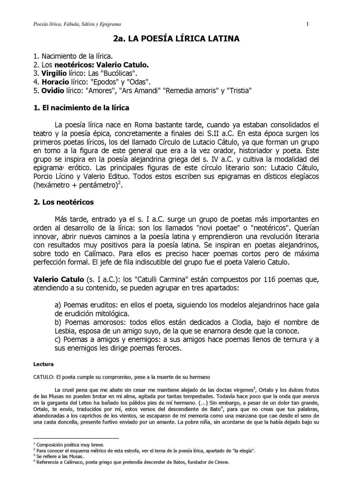 Calaméo Poesía Lírica Latina Fábula Sátira Y Epigrama