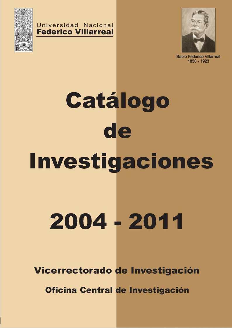 Catálogo - 2011 Calaméo - 2004 de Investigación
