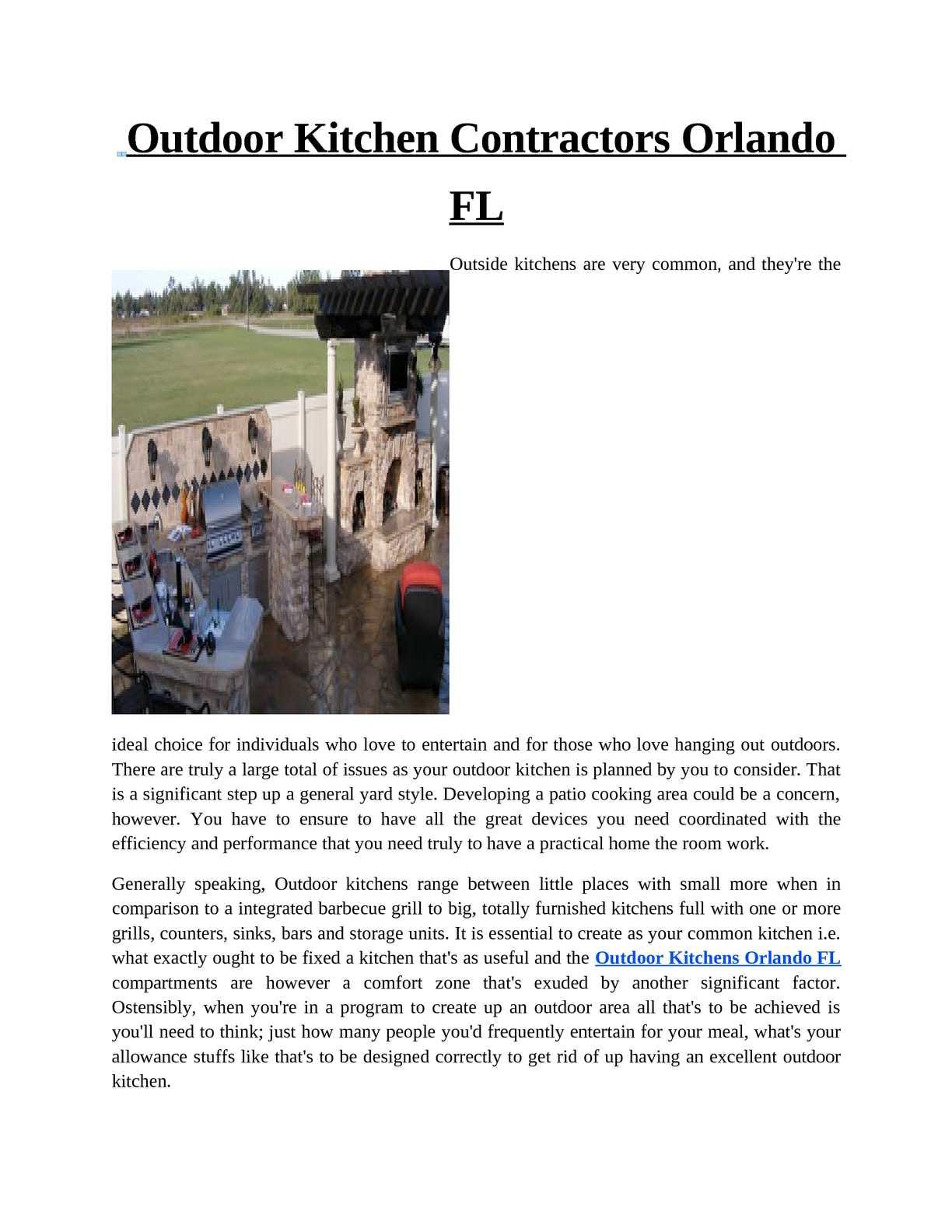 Calameo Outdoor Kitchens Orlando Fl