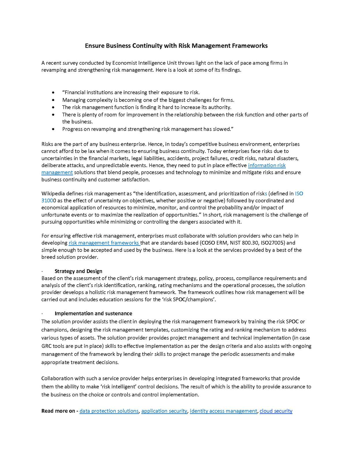 Calaméo - Ensure Business Continuity with Risk Management Frameworks
