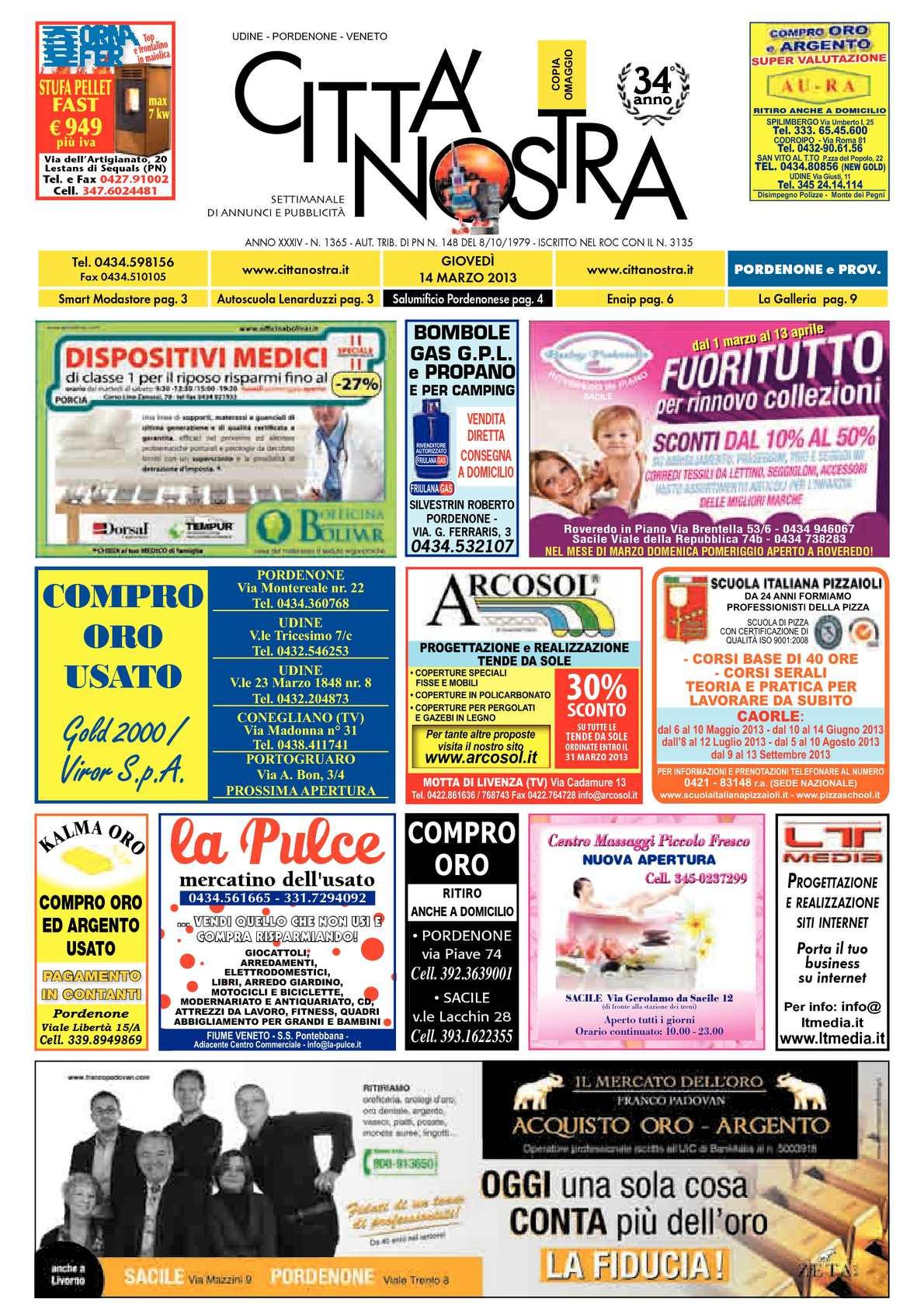 best authentic a0639 48a6c Calaméo - Città Nostra Pordenone del 14.03.2013 n. 1365