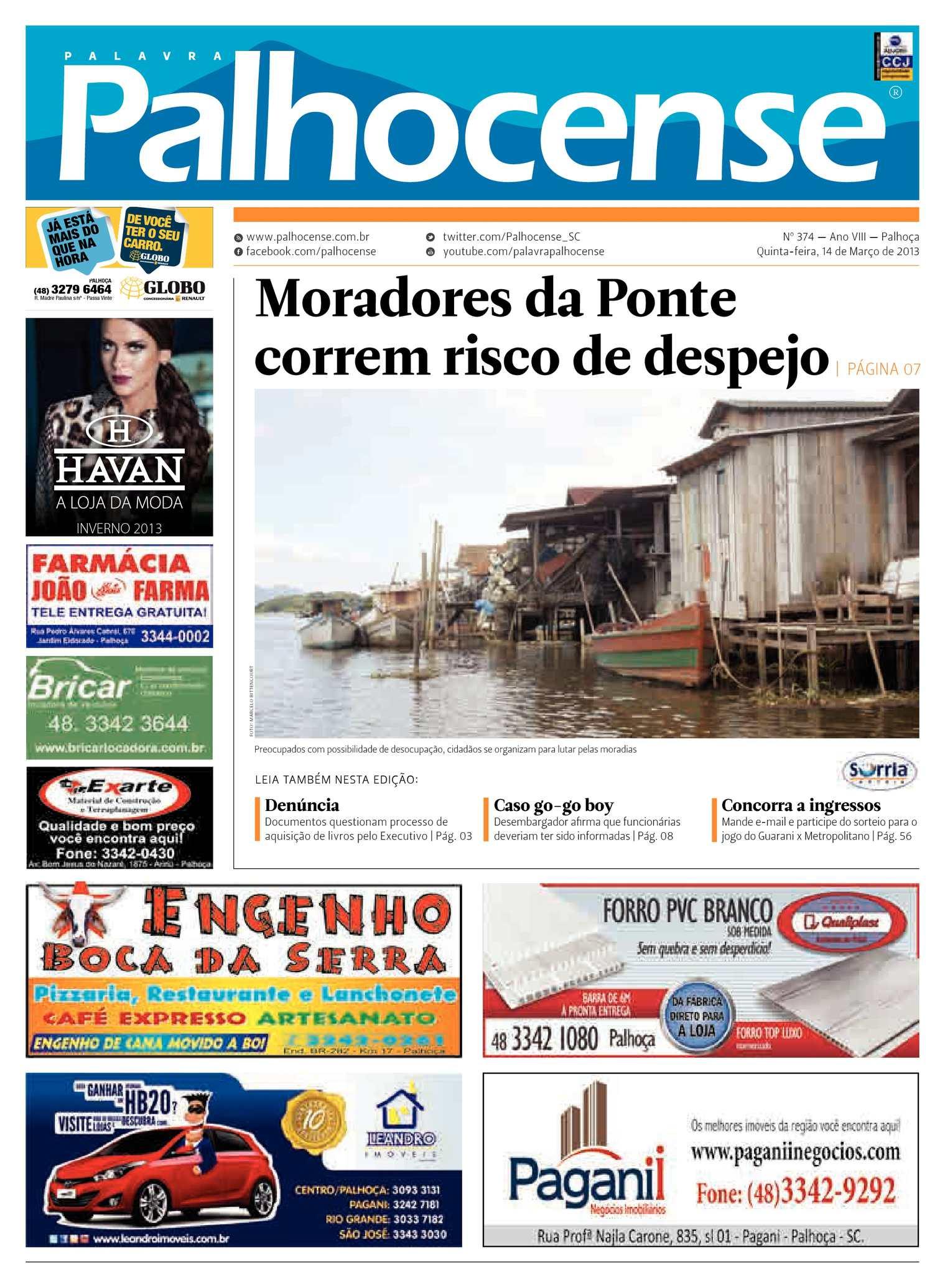 427243f7a Calaméo - Jornal Palavra Palhocense - Edição 374