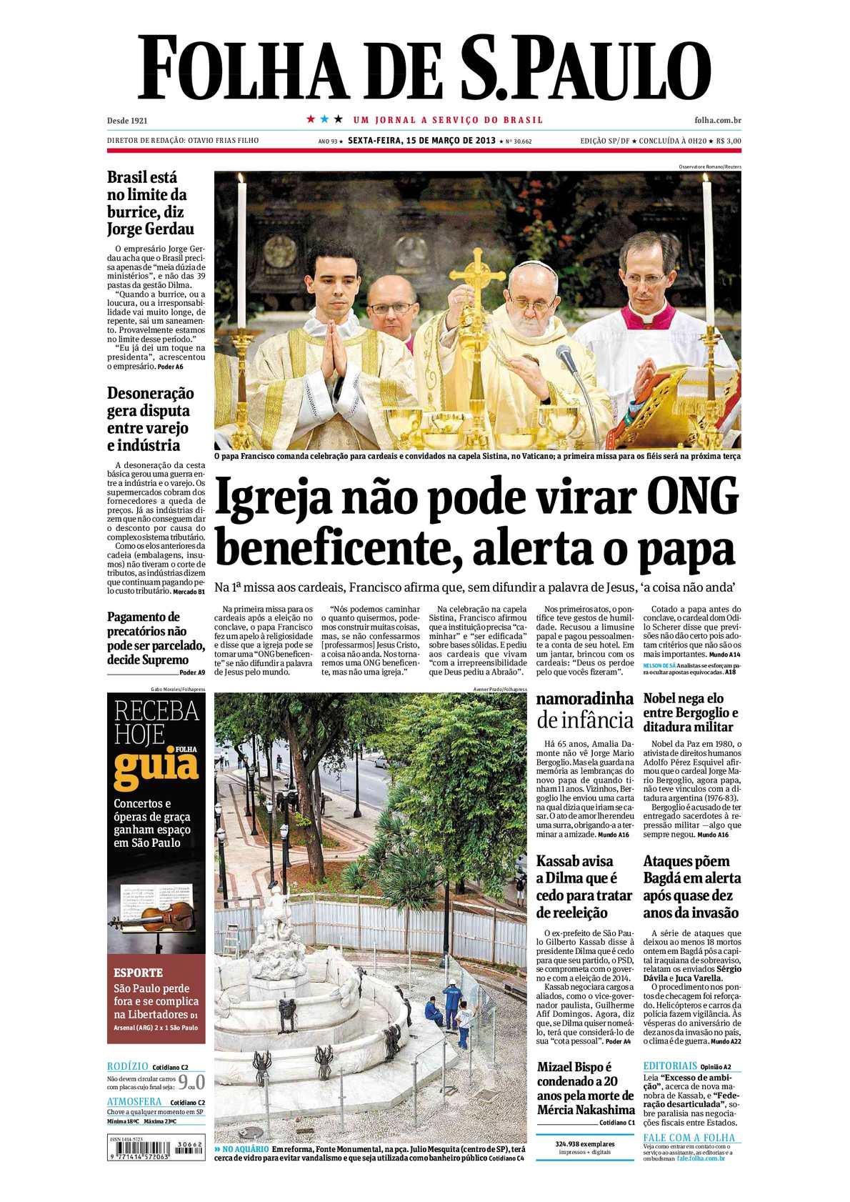 16b786f8239801 Calaméo - Folha de São Paulo 15-03-2013