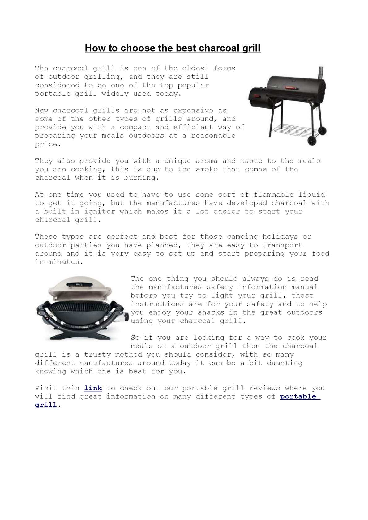 Calameo Charcoal Grill