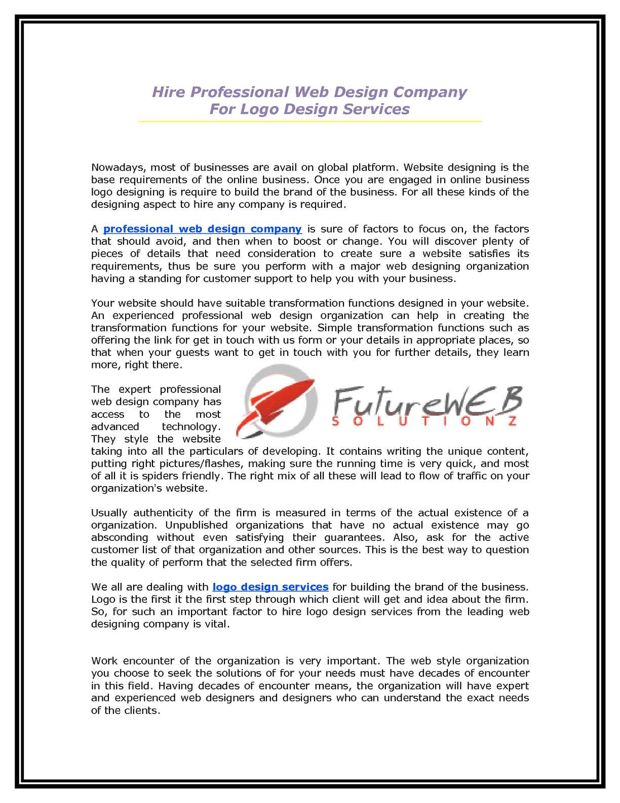 Calameo 2 Hire Professional Web Design Company For Logo Design Services