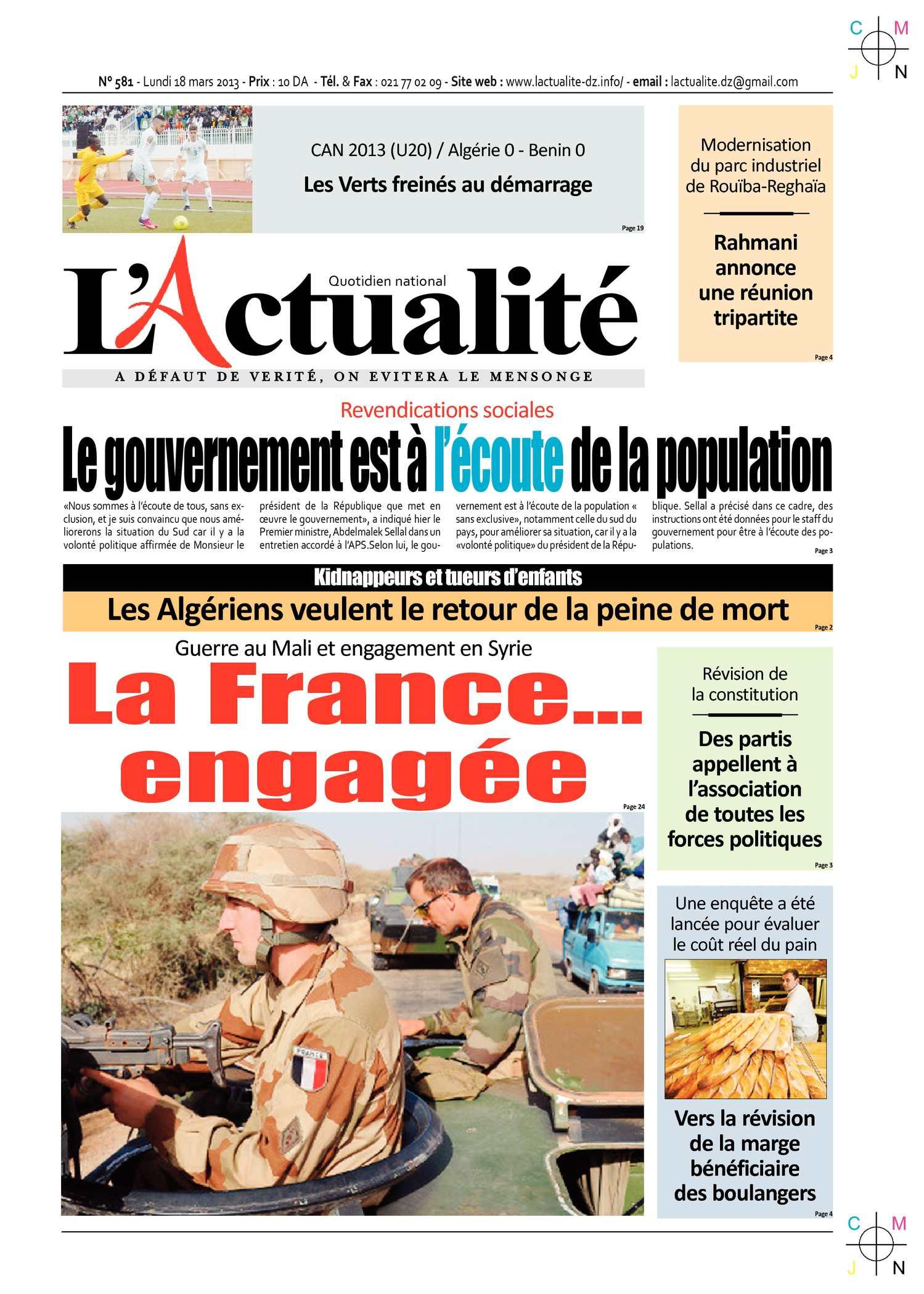 Calaméo - L'Actualité du 18 03 2013