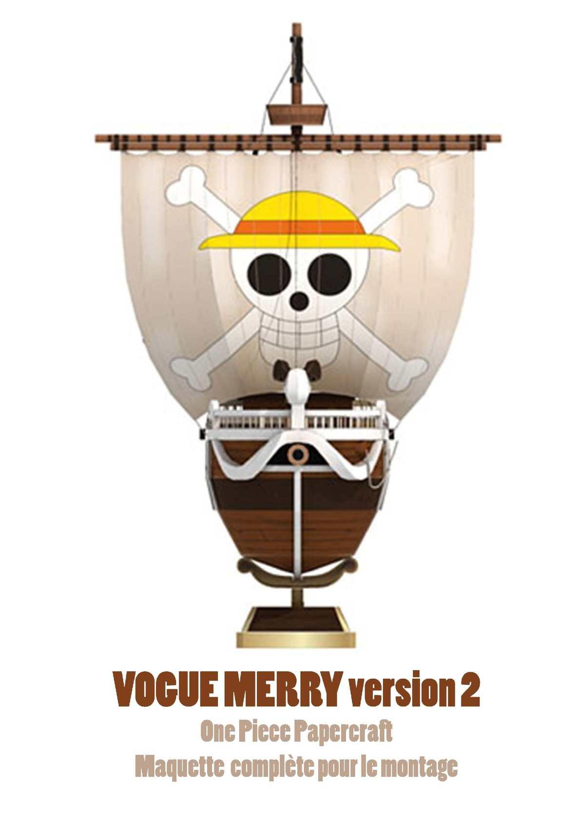calam o 05 vogue merry v2 papercraft one piece maquette compl te. Black Bedroom Furniture Sets. Home Design Ideas