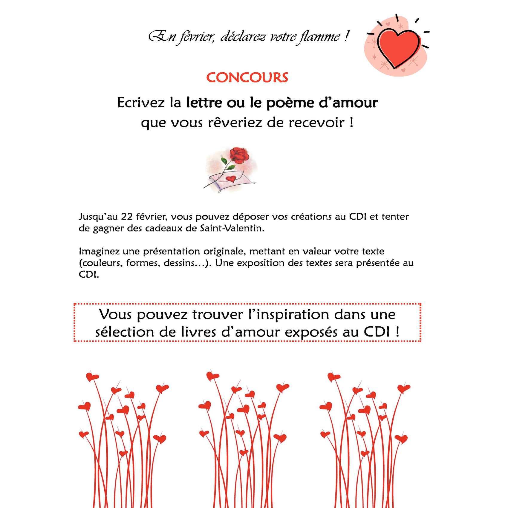 Calaméo Concours De La Saint Valentin Au Cdi