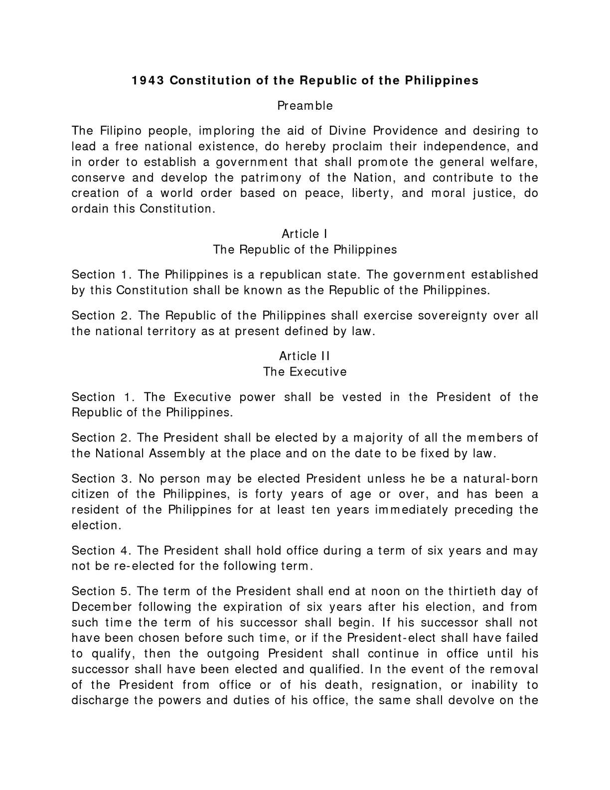 Calaméo - The 1943 Constitution of the Republic of the