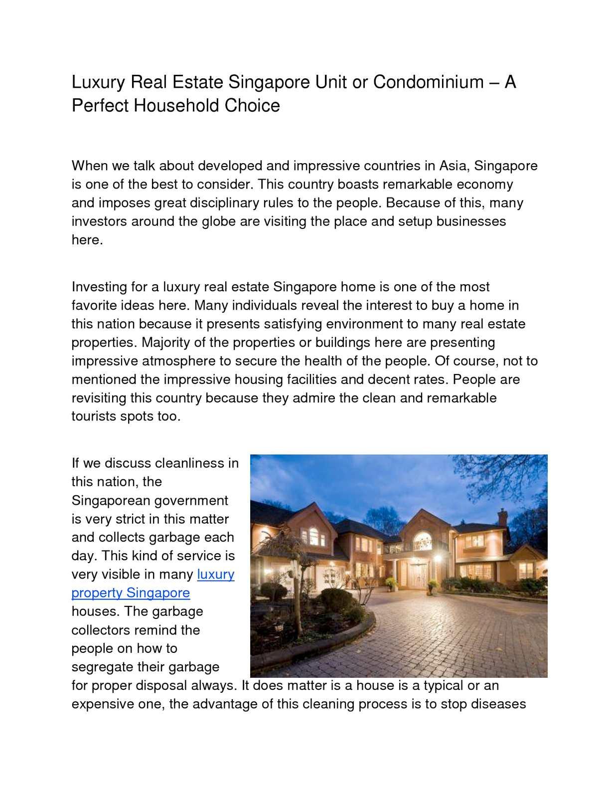 Calaméo - Luxury Real Estate Singapore Unit or Condominium