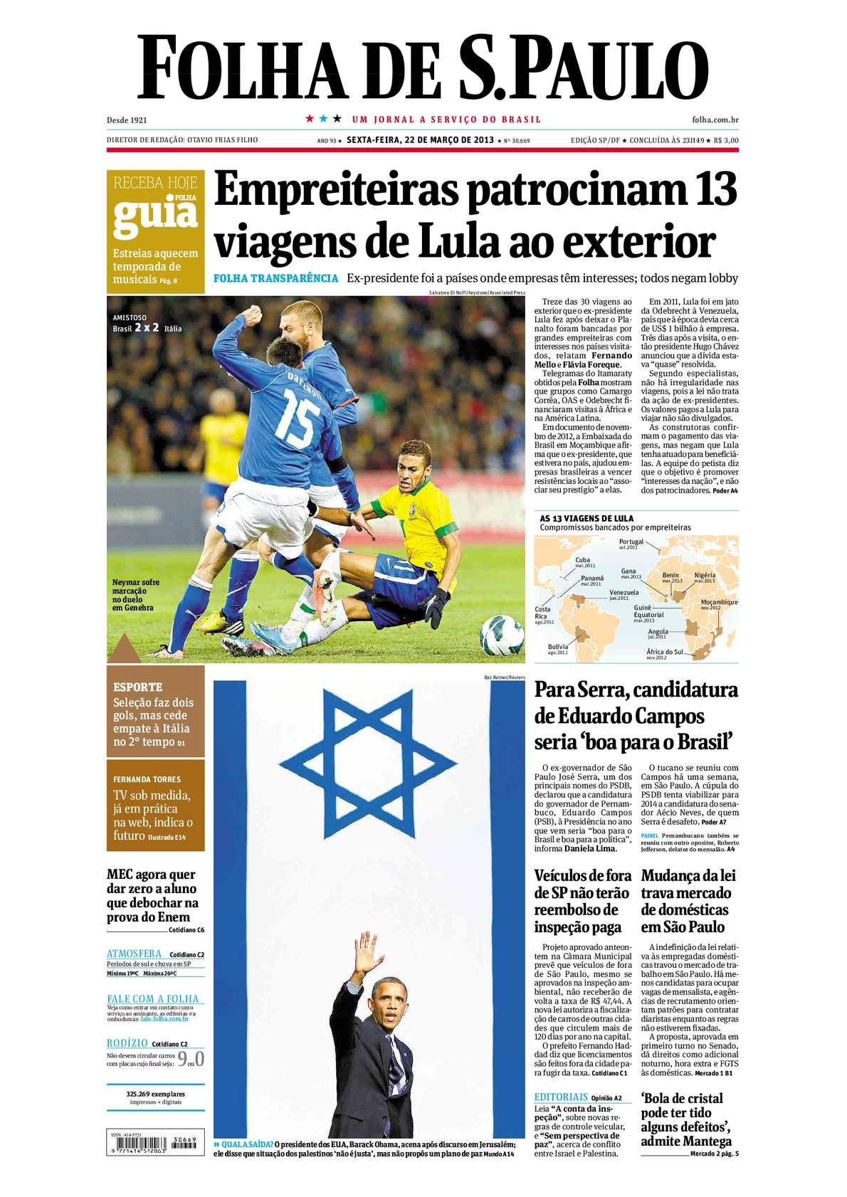 8234e16235105 Calaméo - Folha de São Paulo 22-03-2013