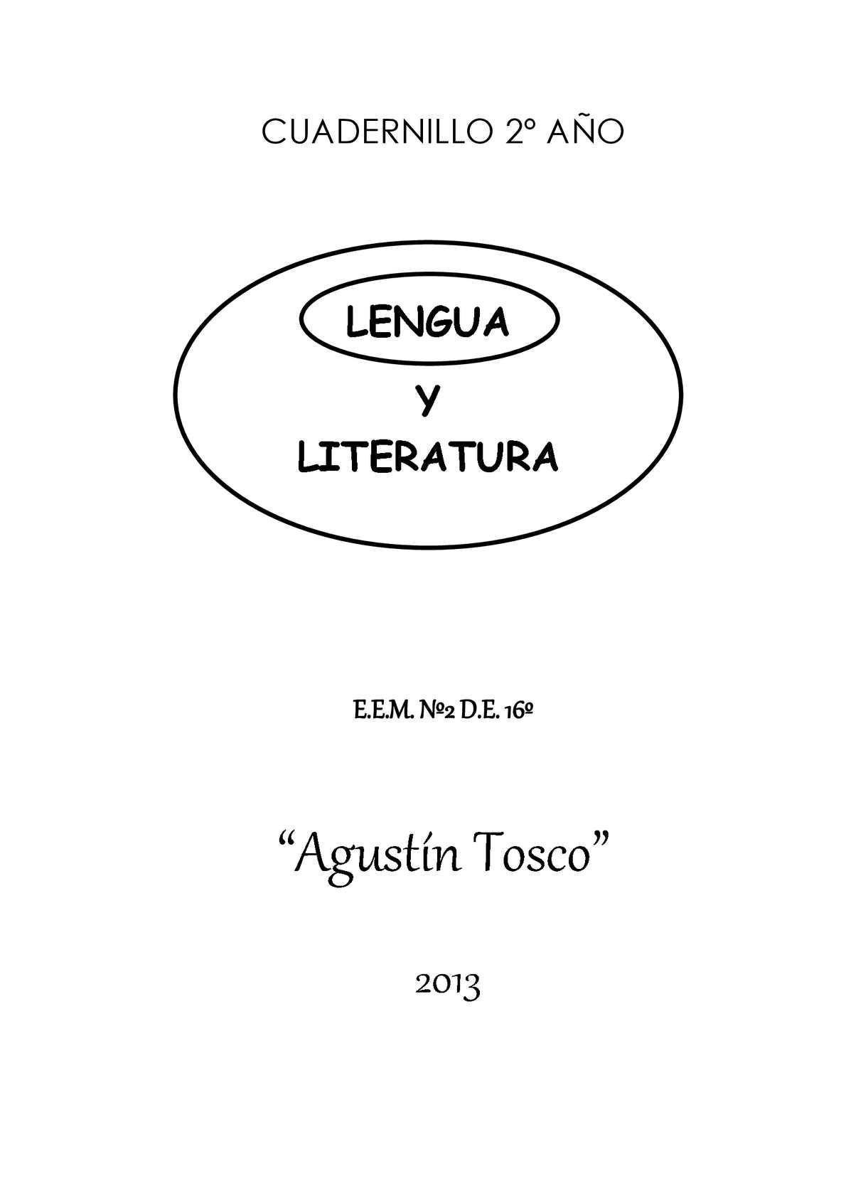LENGUA - 2° AÑO