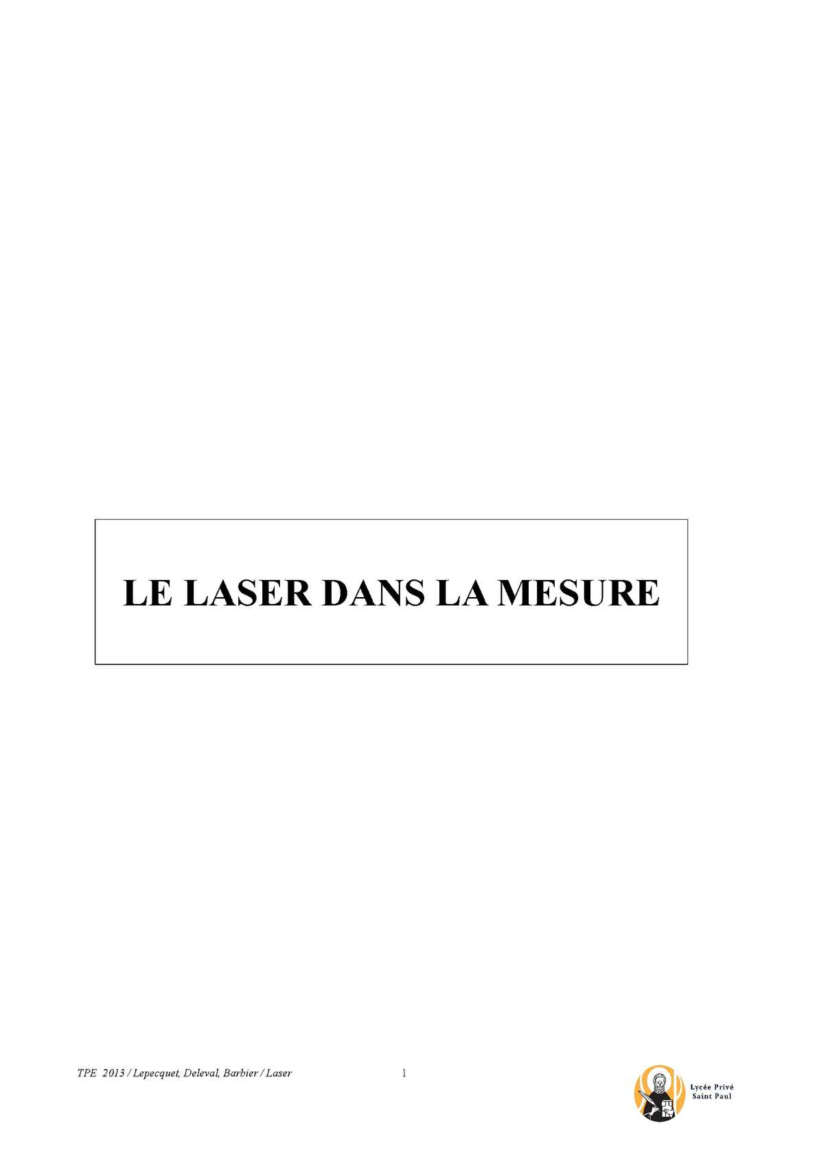 Calaméo Tpe Laser Dans La Mesure