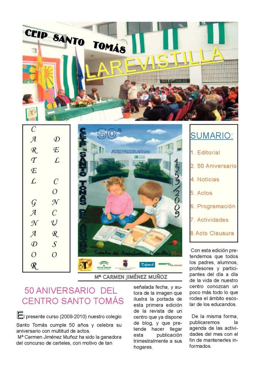 Calaméo 50 Aniversario Del Colegio Santo Tomas