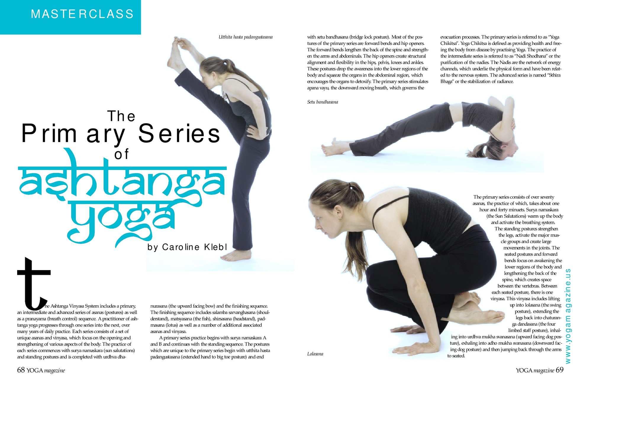 Calameo The Primary Series Of Ashtanga Yoga By Caroline Klebl