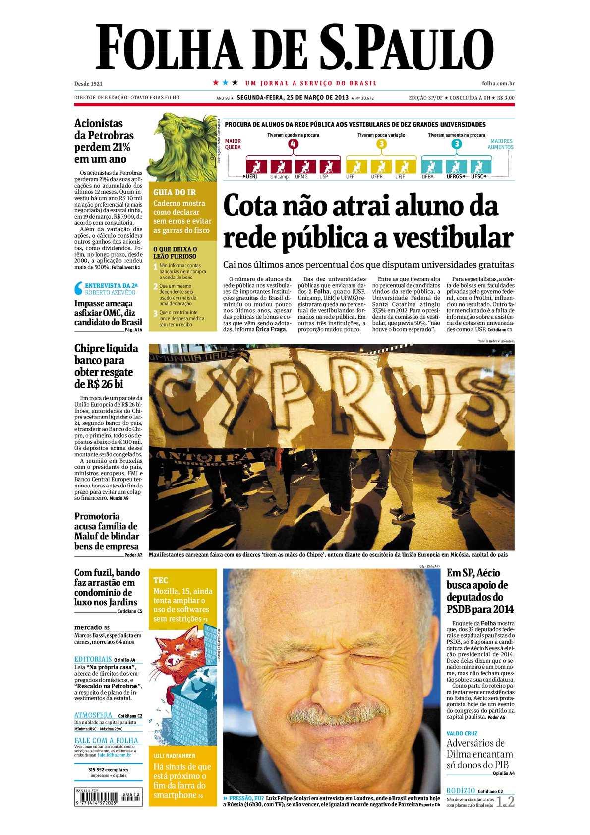 0888d9299ca50 Calaméo - Folha de São Paulo 25-03-2013