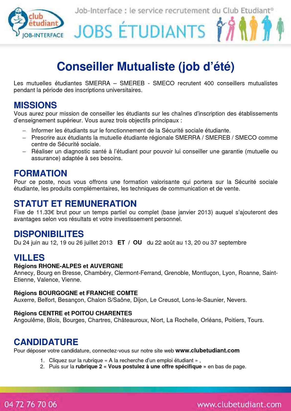 3fb8e7946f8 Calaméo - SMECO - Fiche de poste Conseiller Mutualiste 2013