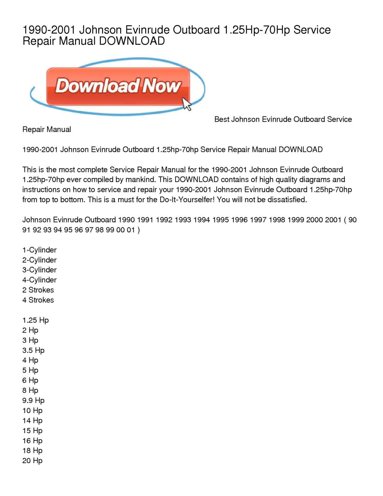 johnson seahorse 2hp shop manual
