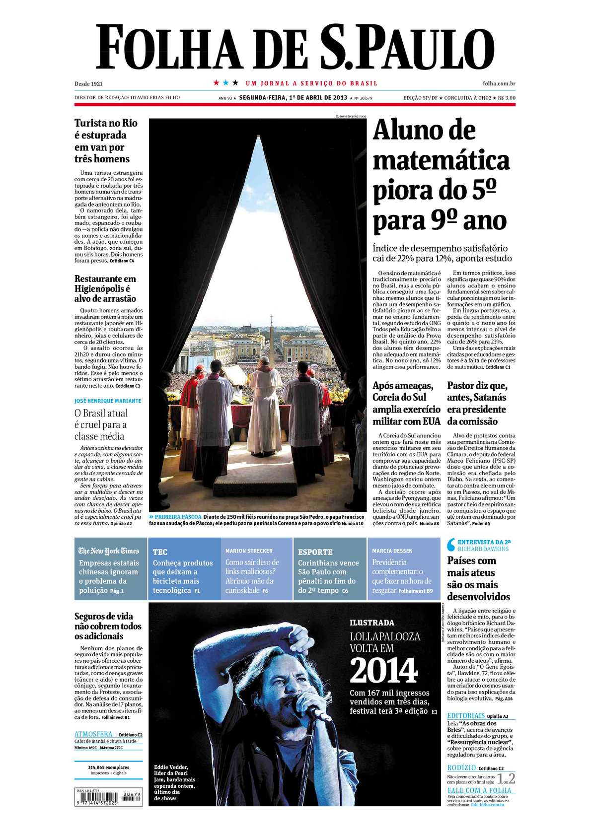 304fb35dc Calaméo - Folha de São Paulo 01-04-2013
