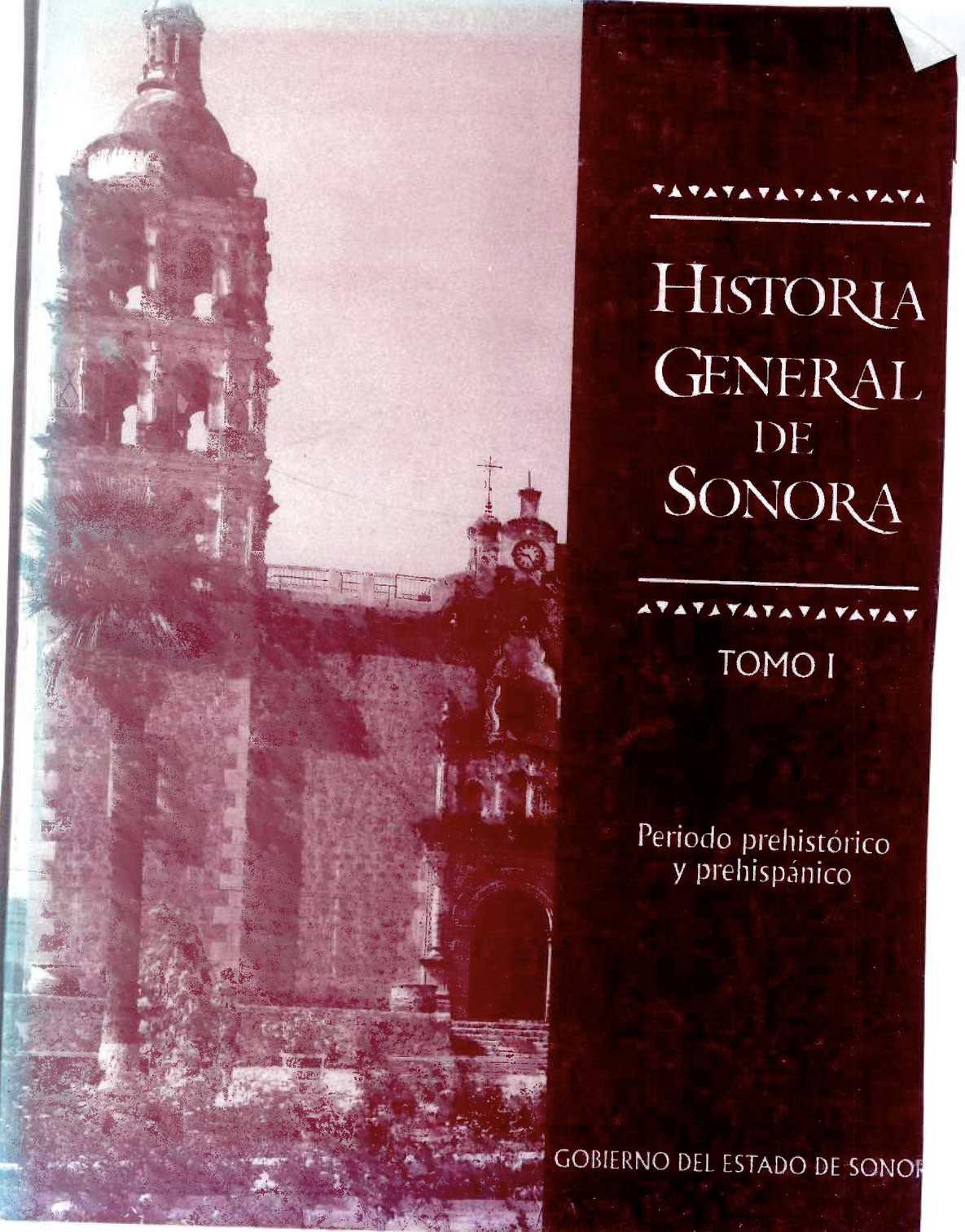HISTORIA GENERAL DE SONORA TOMO I