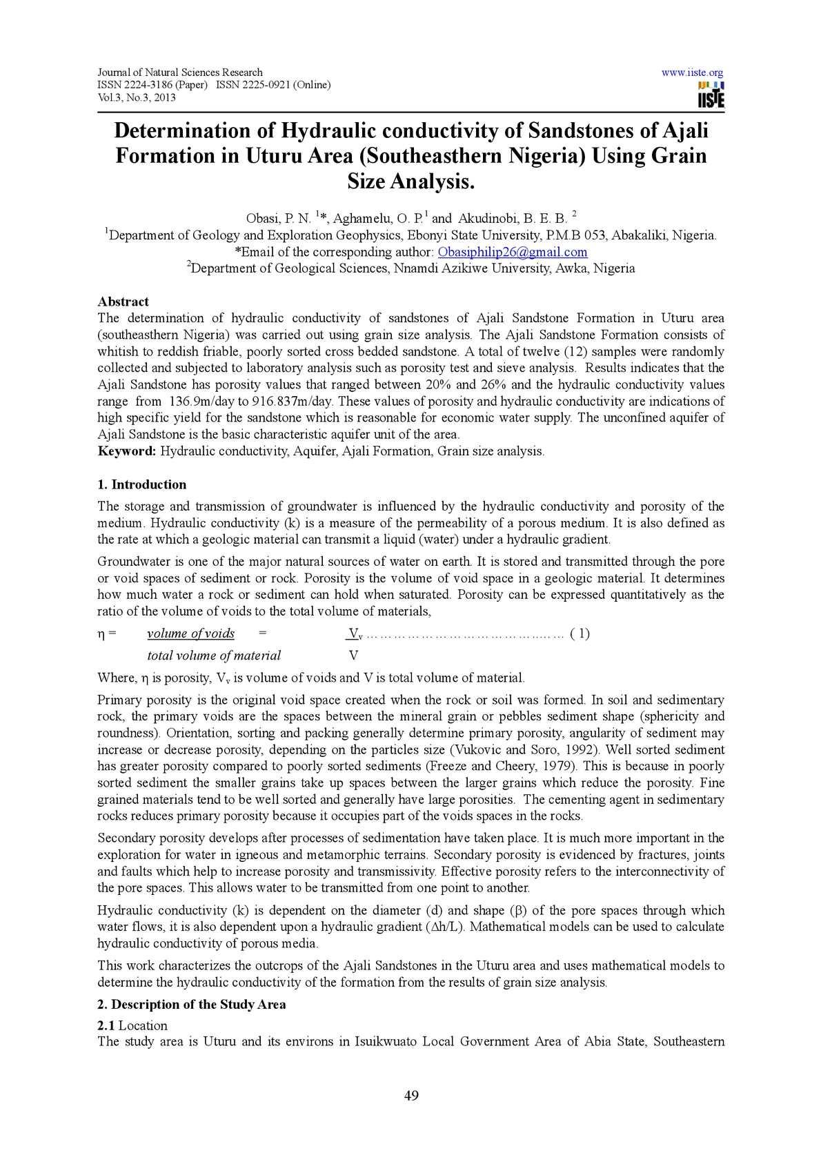 Calaméo Determination Of Hydraulic Conductivity Of