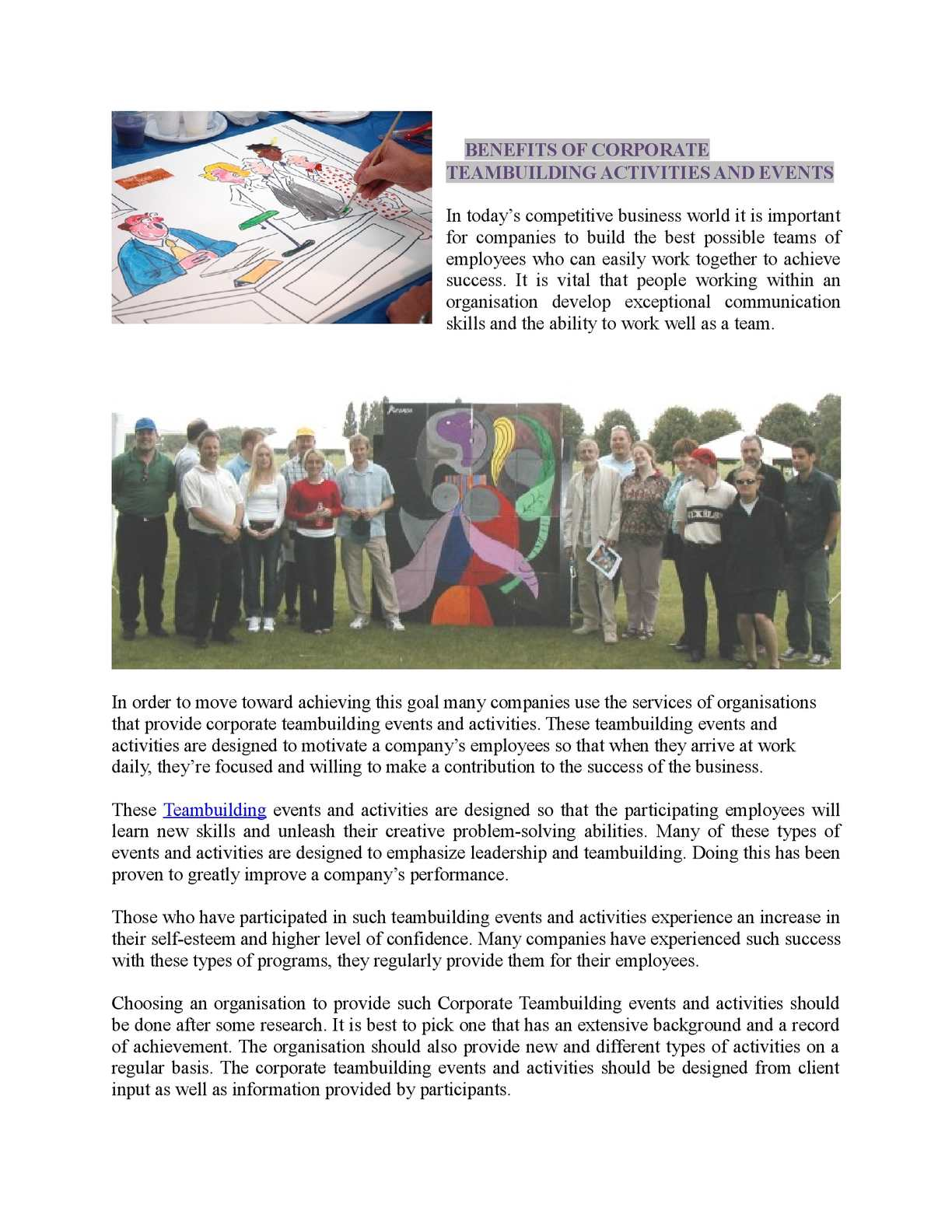 Calameo Benefits Of Corporate Teambuilding Activities And Events - Type-of-corporate-events