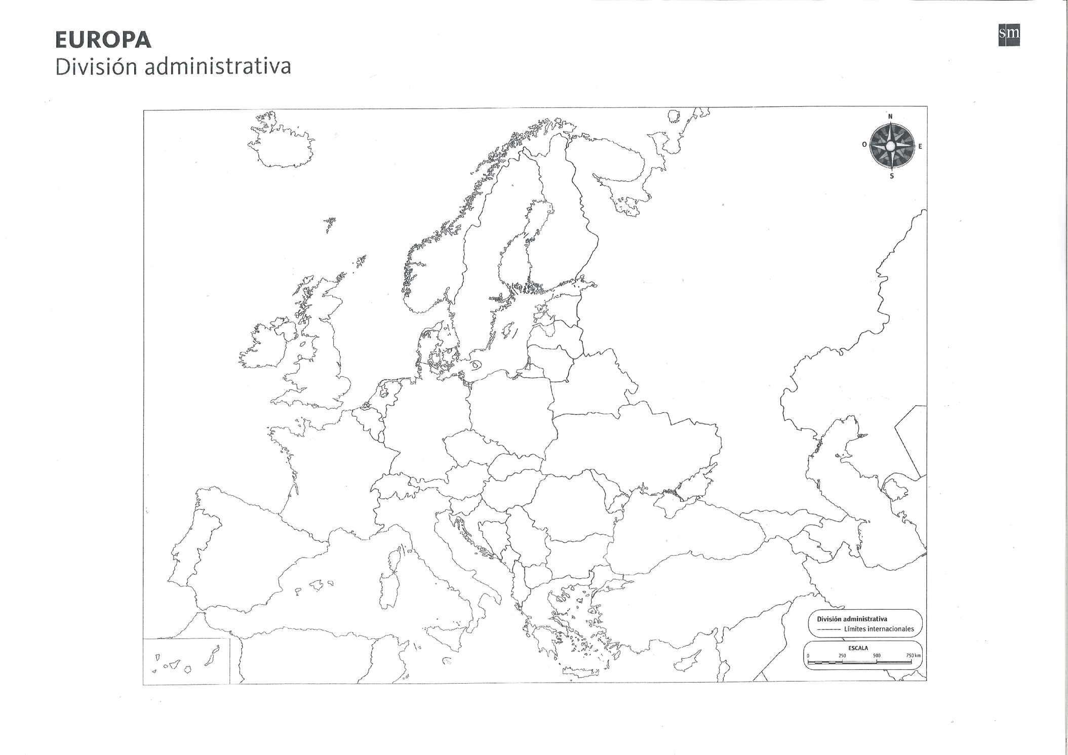 Calameo Mapa Mudo De Europa Administrativo