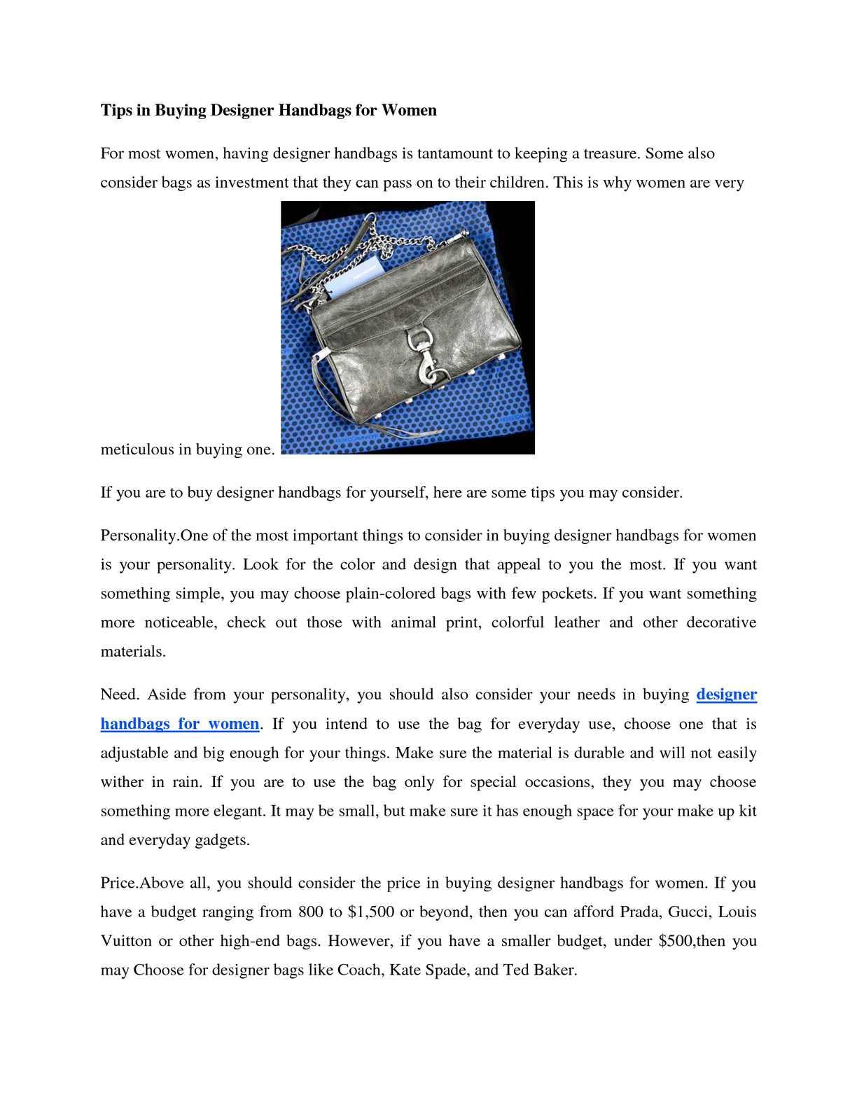 df89d671a8 Calaméo - Tips in Buying Designer Handbags for Women