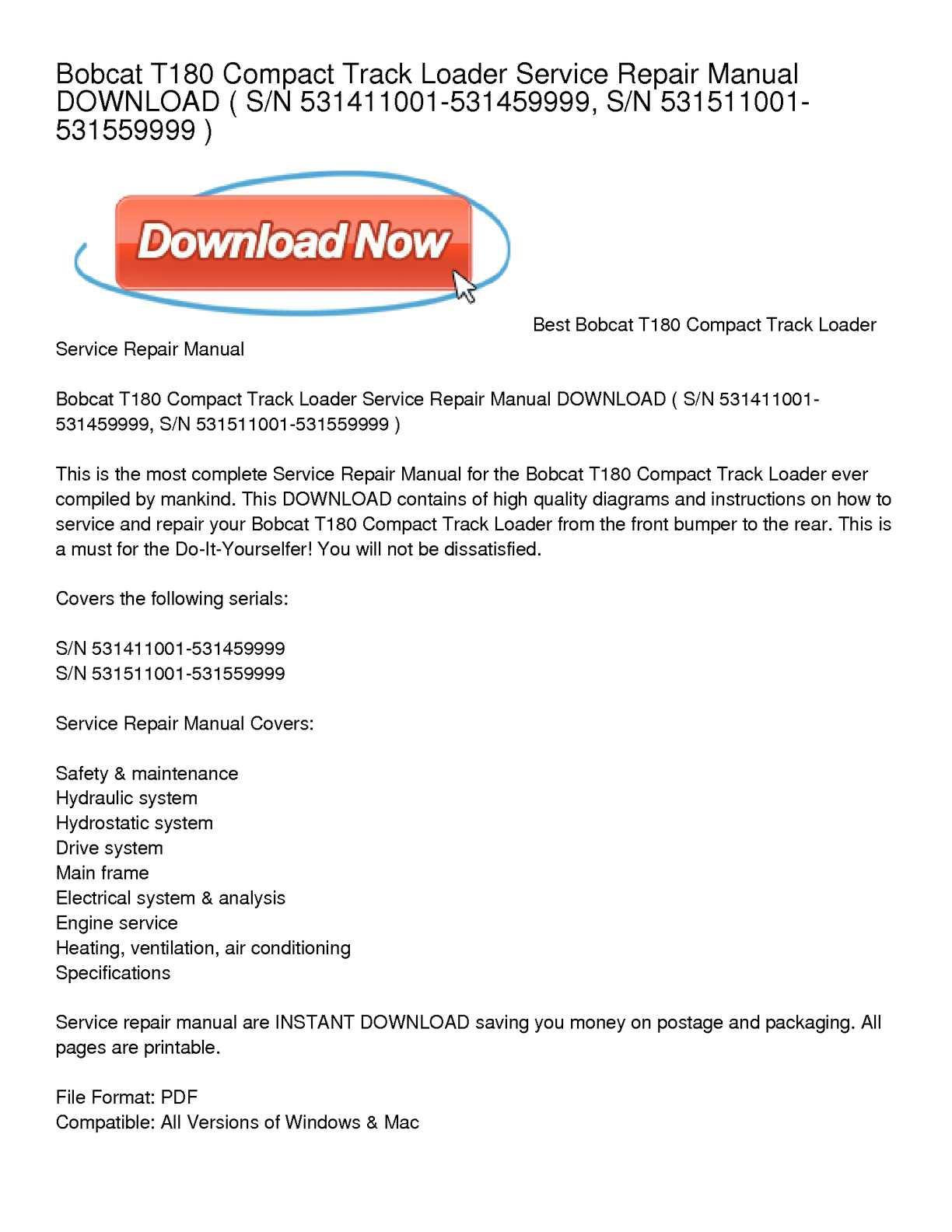 T180 Repair Manual