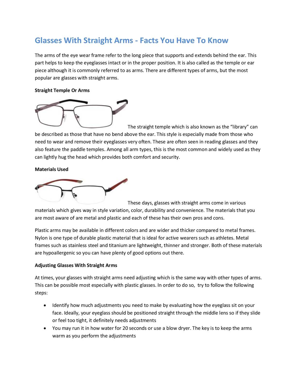 Calameo Glasses With Straight Arms Facts You Have To Know