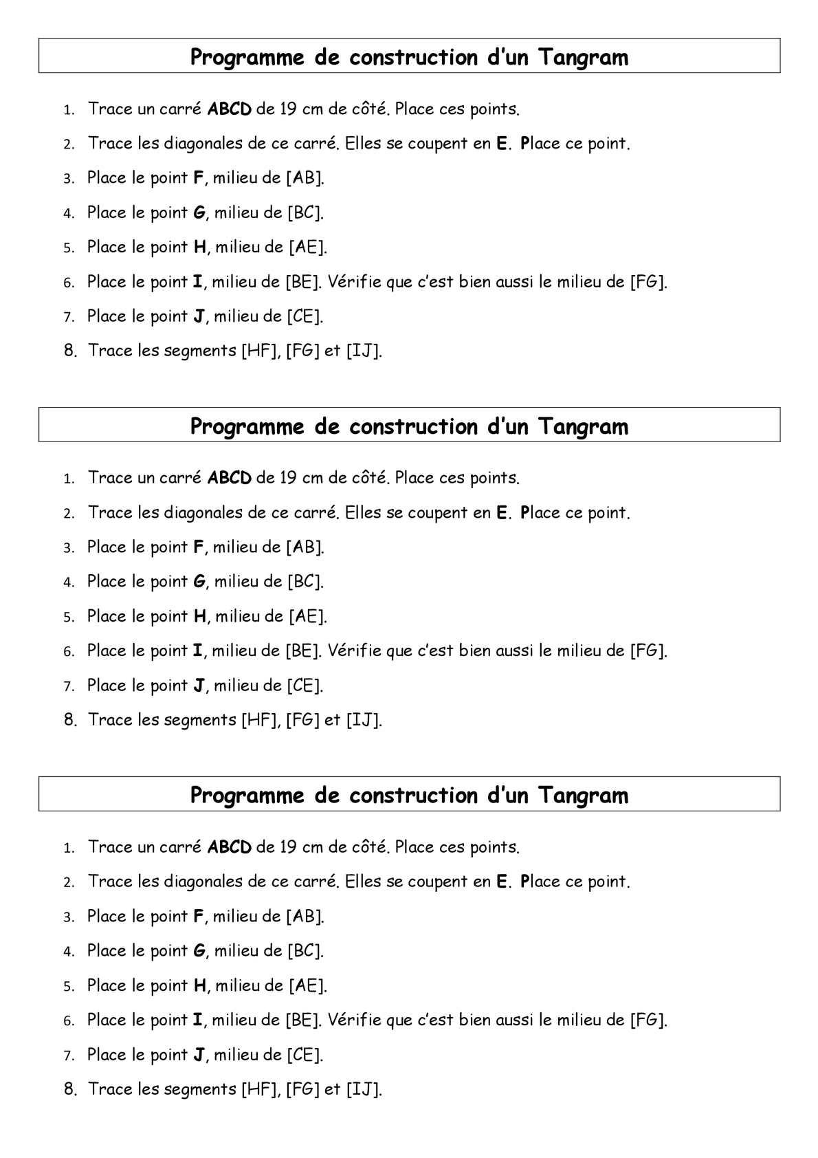 3. Programme