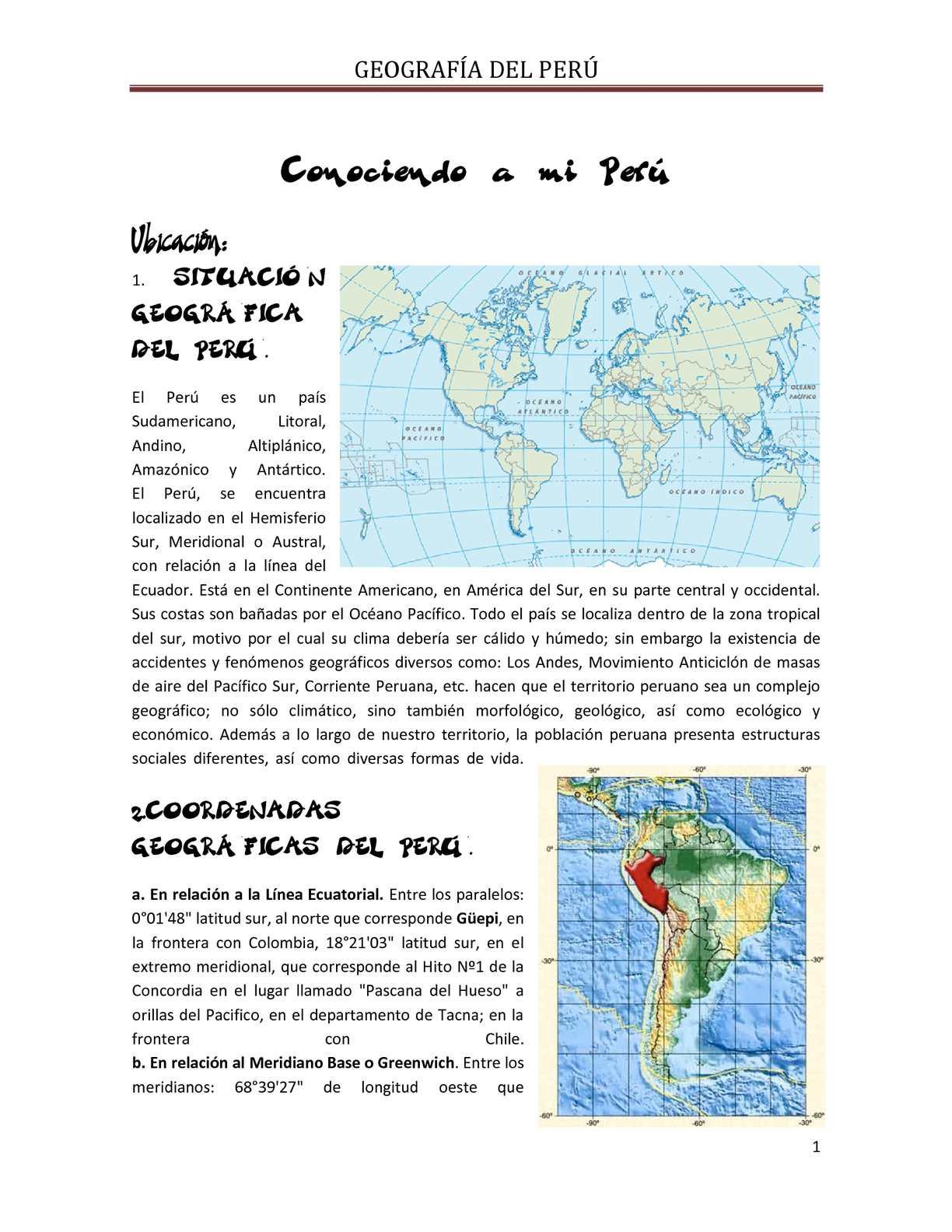 Calameo Peru Ubicacion Geografica