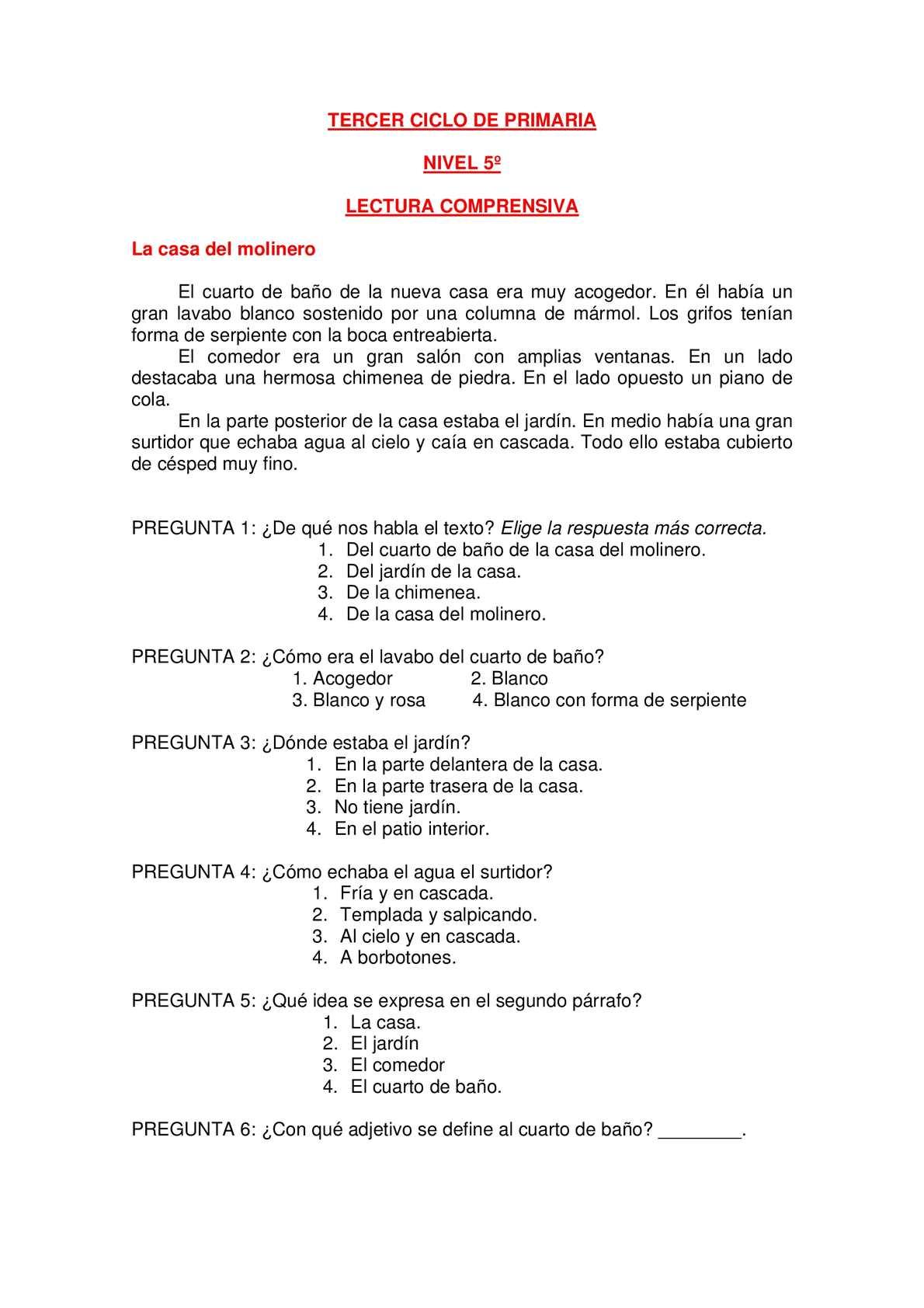 Calaméo - Banco de lecturas para el tercer ciclo de Primaria.