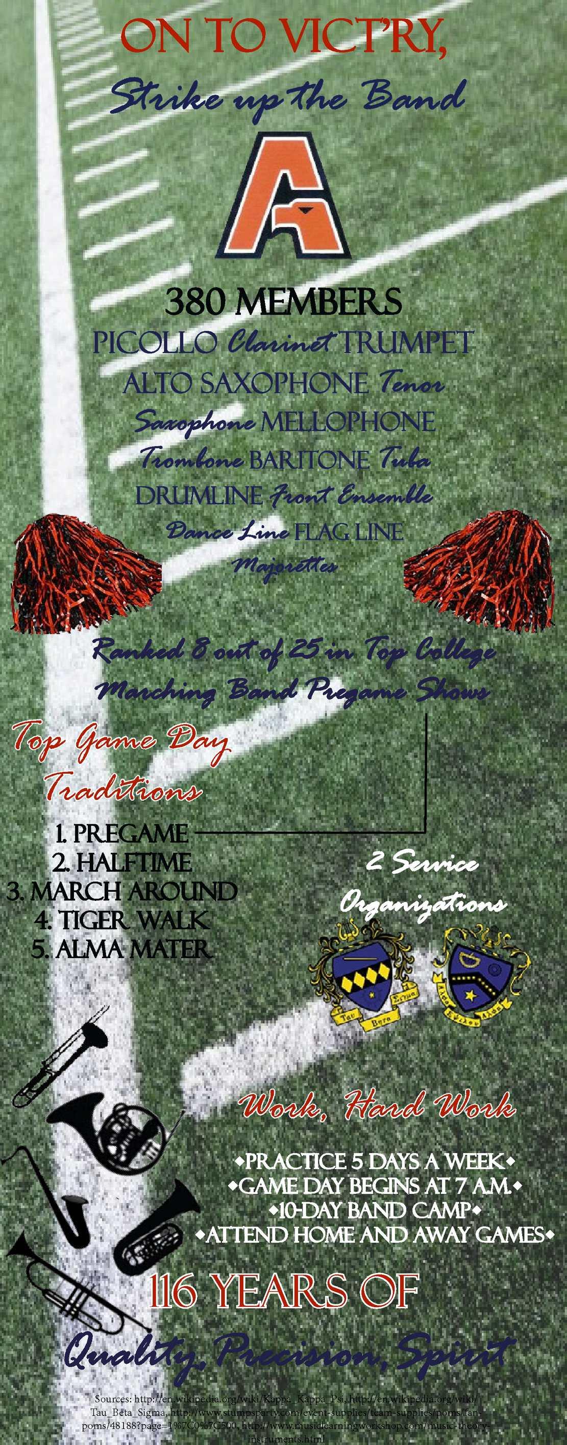 Calaméo - Auburn University Marching Band Infographic