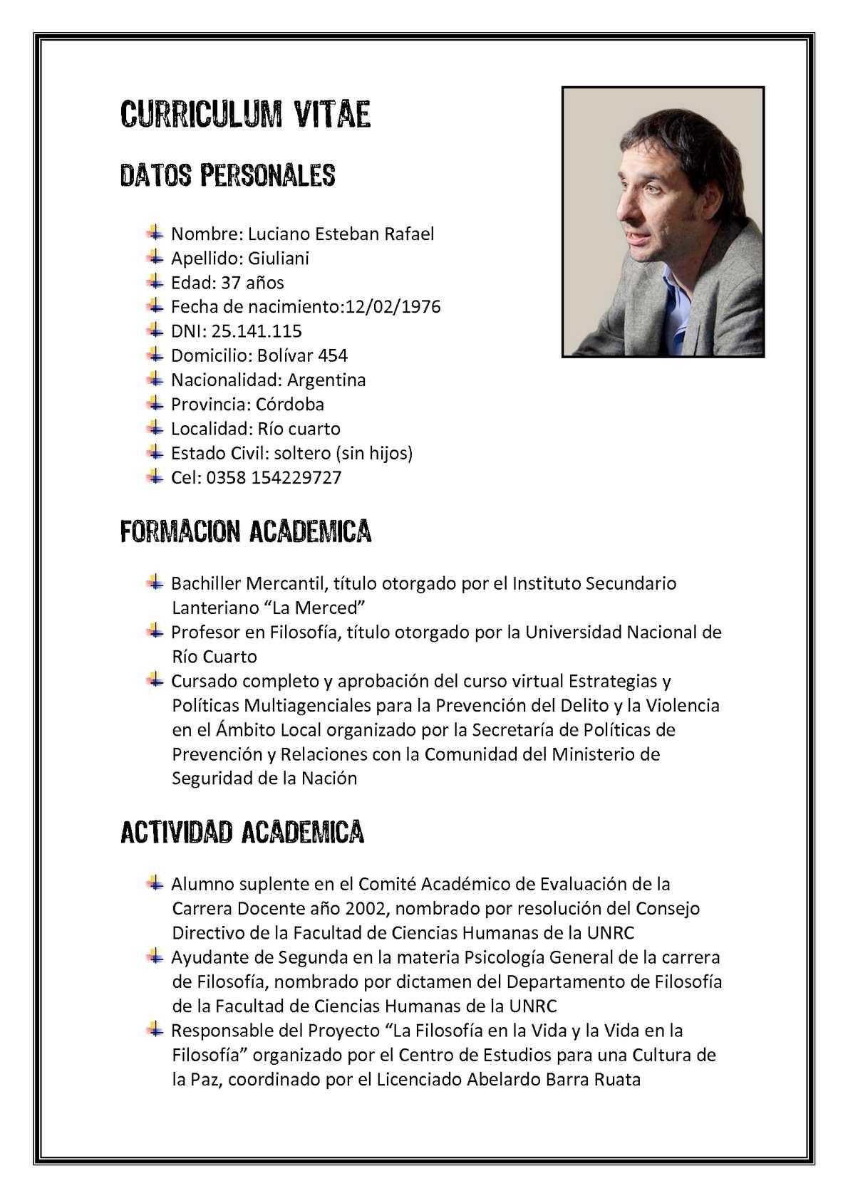 Calameo Curriculum Vitae De Luciano Giuliani