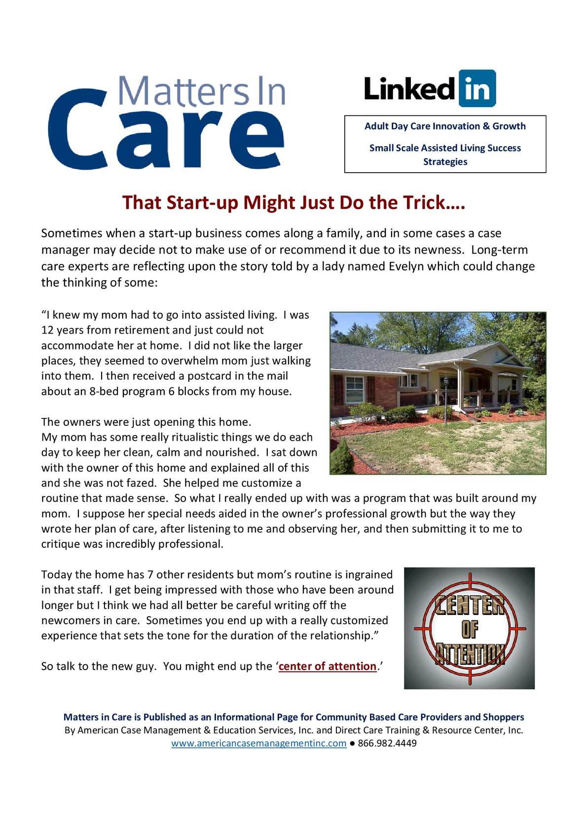 information start up care day Adult home