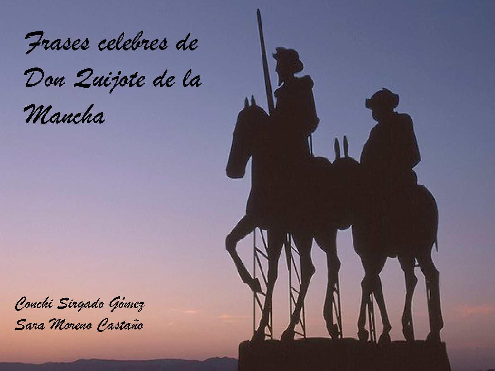 Calaméo - Frases celebres del Quijote
