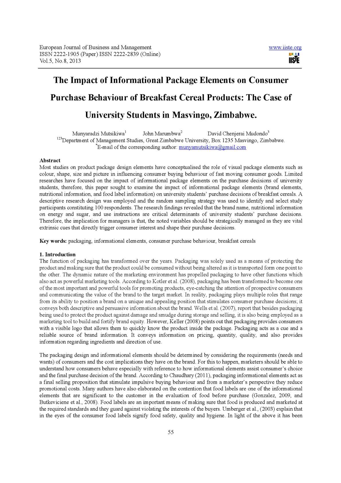 Calaméo - The Impact of Informational Package Elements on