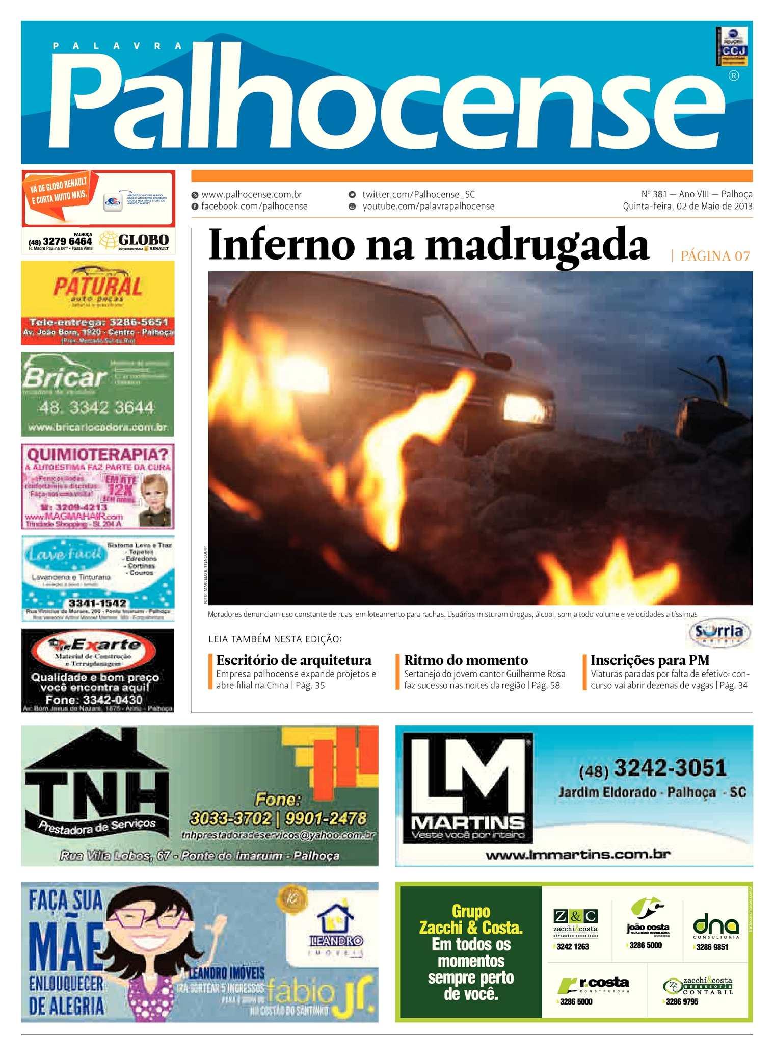 Calaméo - Jornal Palavra Palhocense - Edição 381 3bda3597010ed